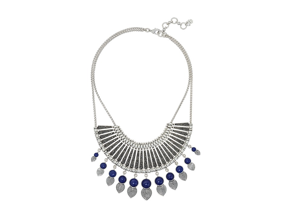 Lucky Brand - Blue and Pave Major Statement Necklace (Silver) Necklace