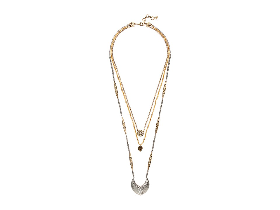 Lucky Brand - Openwork LL Pendant Necklace (Two-Tone) Necklace