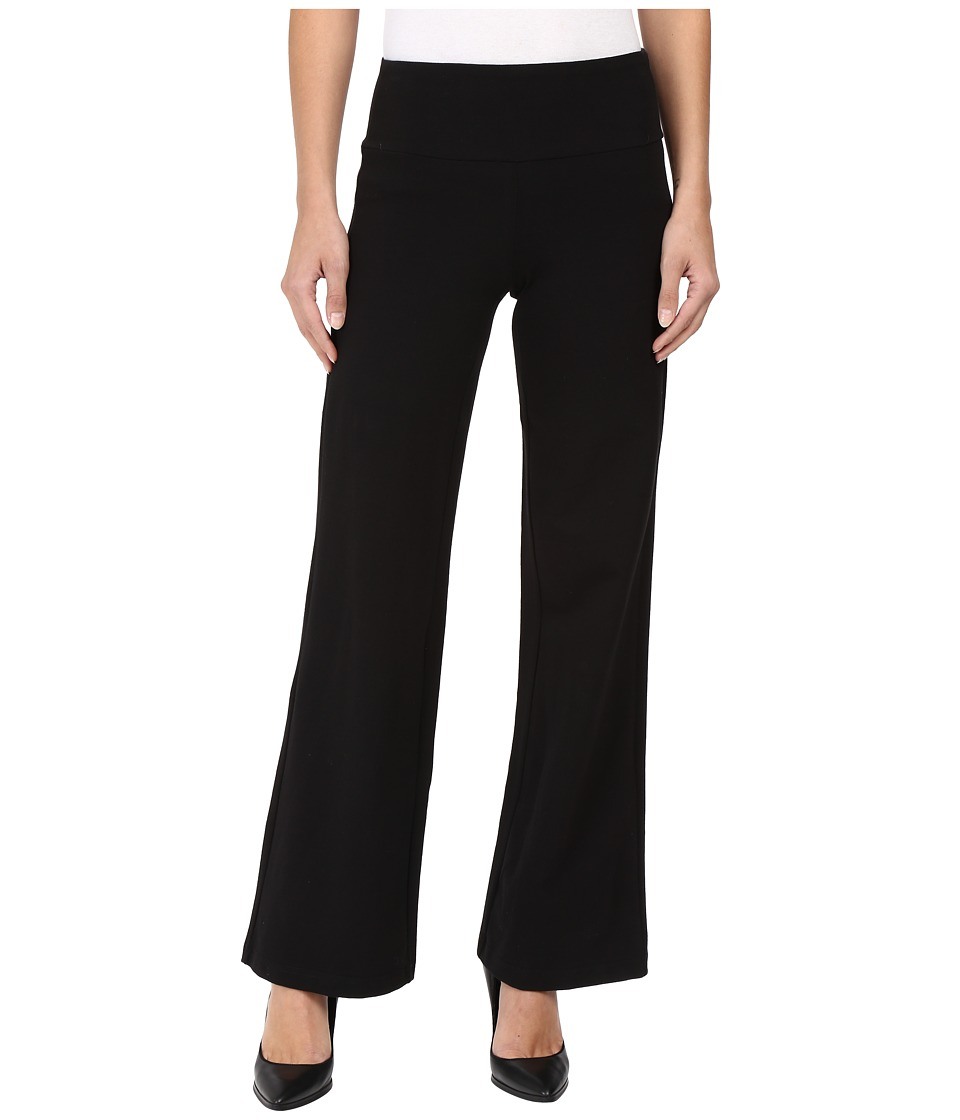 Christin Michaels - Emme High-Rise Wide Leg Pants (Black) Women's Casual Pants