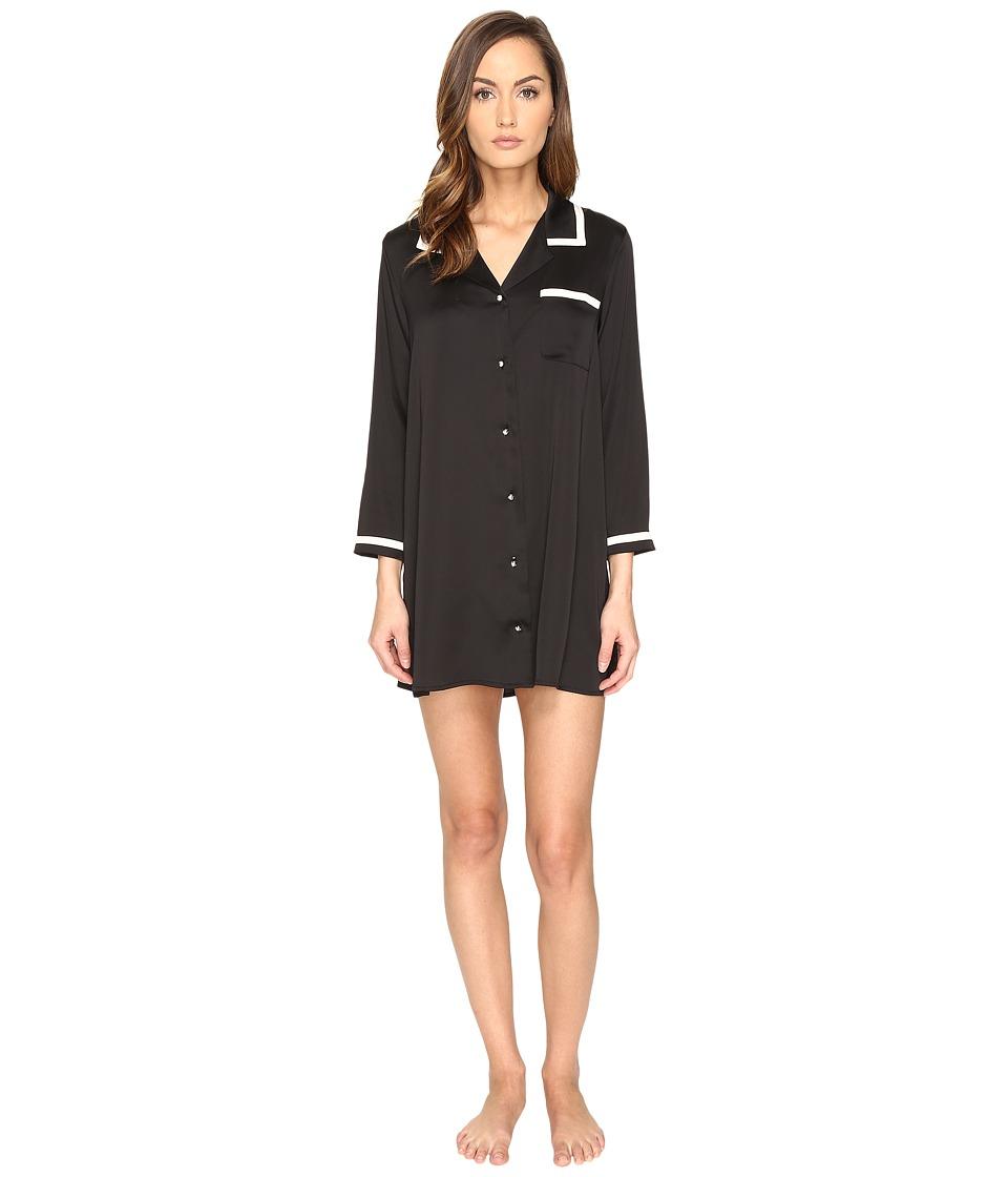 Kate Spade New York - Sleepshirt (Black) Women's Pajama