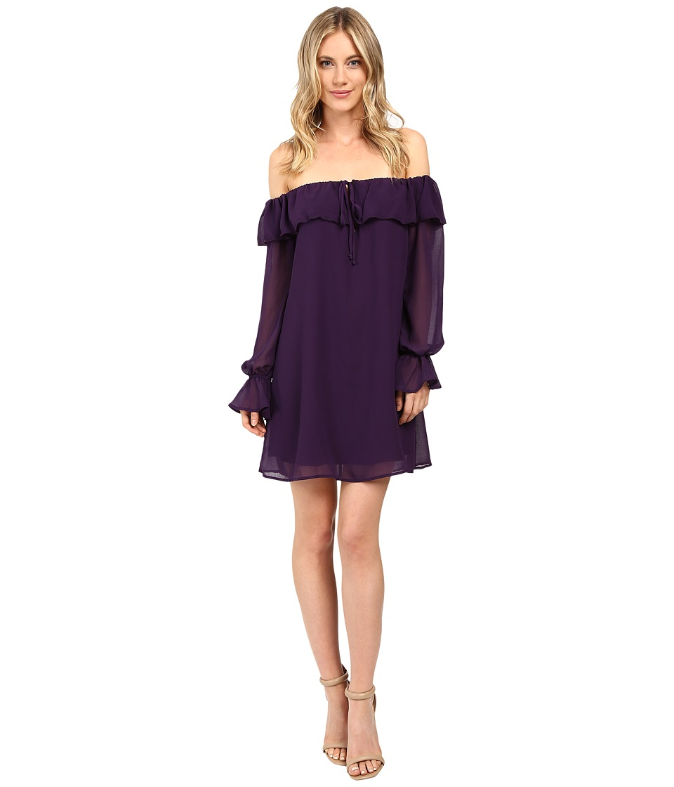 Brigitte Bailey - Nel Off the Shoulder Dress with Keyhole (Eggplant) Women's Dress