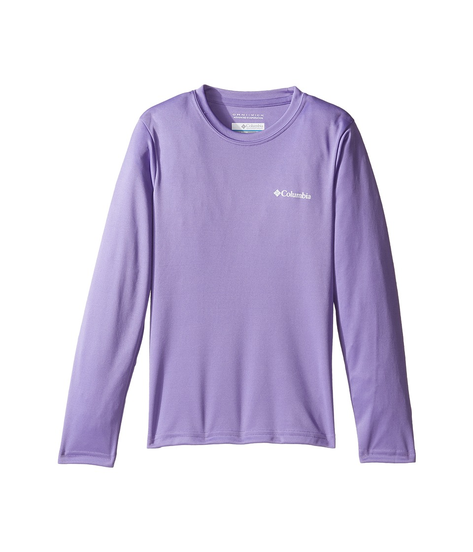 Columbia Kids - Terminal Tackletm Long Sleeve (Little Kids/Big Kids) (Paisley Purple) Girl's Long Sleeve Pullover