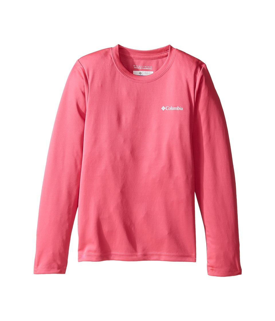 Columbia Kids - Terminal Tackletm Long Sleeve (Little Kids/Big Kids) (Wild Geranium) Girl's Long Sleeve Pullover