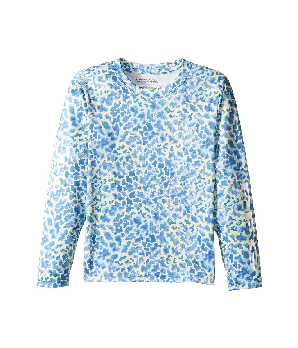 Columbia Kids - Super Terminal Tackle Long Sleeve Shirt (Little Kids/Big Kids) (Medieval Camo) Girl's T Shirt
