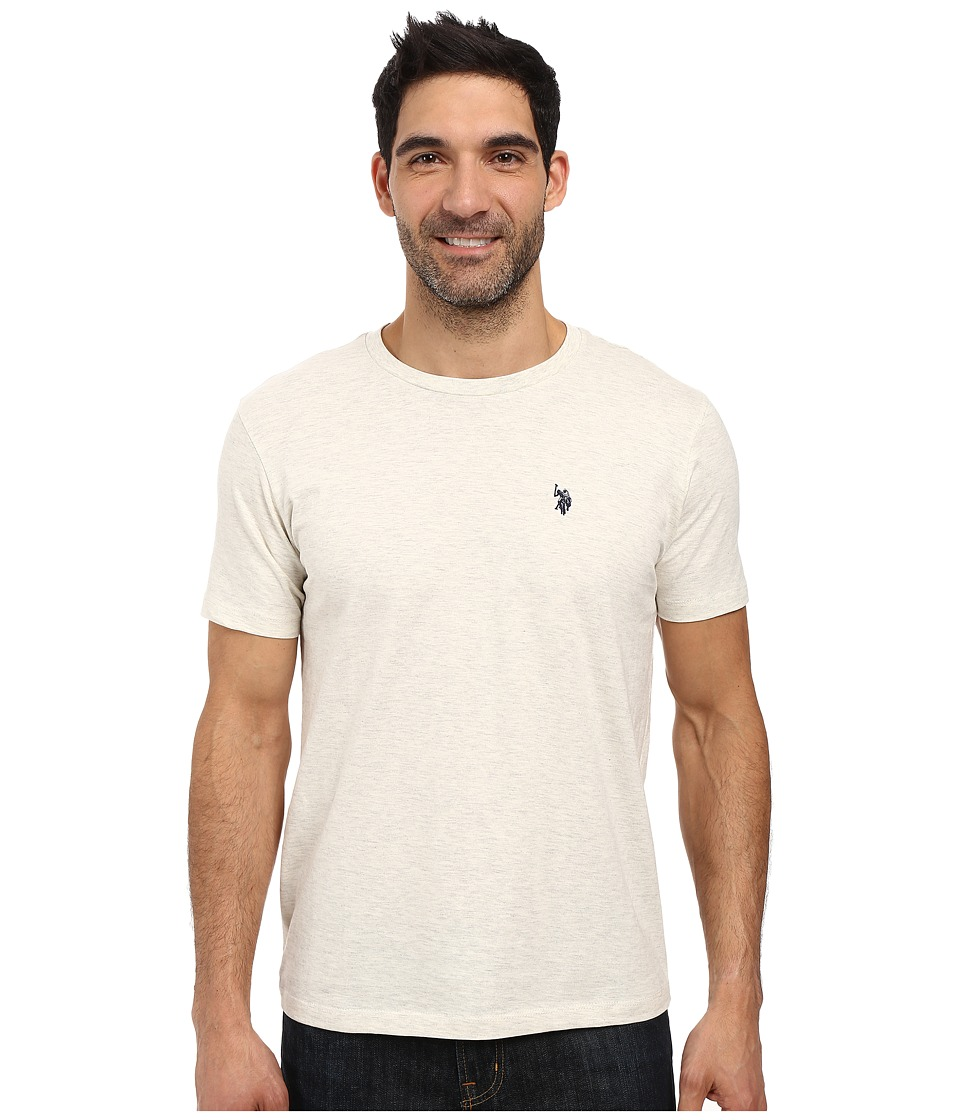 U.S. POLO ASSN. - Crew Neck Small Pony T-Shirt (Oatmeal Heather) Men's Short Sleeve Pullover