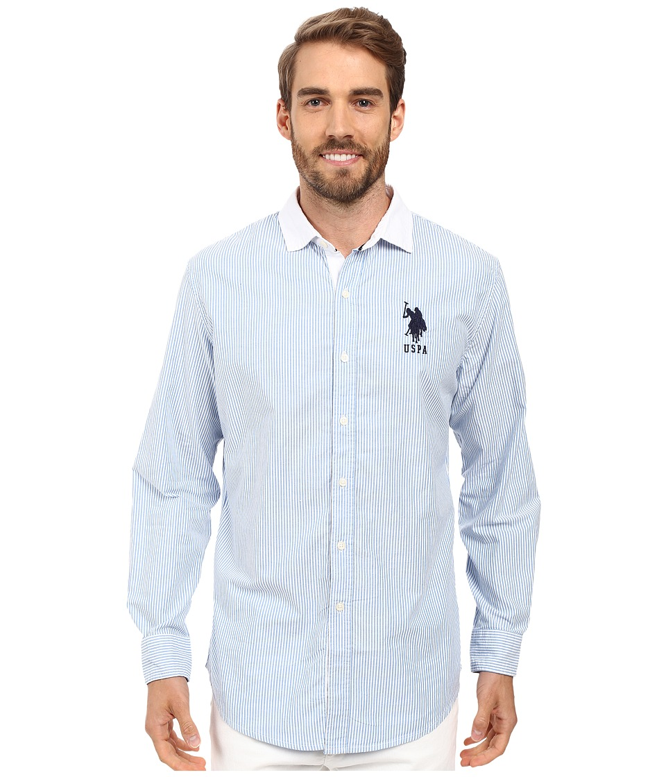 U.S. POLO ASSN. - Bengal Stripe Oxford Cloth Woven Shirt (Regatta) Men