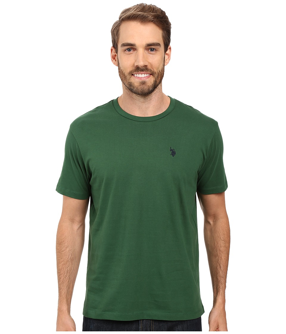 U.S. POLO ASSN. - Crew Neck Small Pony T-Shirt (Essex Green) Men's Short Sleeve Pullover