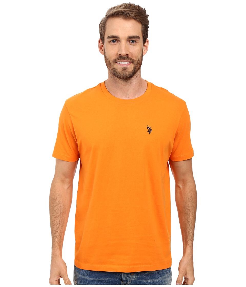 U.S. POLO ASSN. - Crew Neck Small Pony T-Shirt (Stanton Orange) Men's Short Sleeve Pullover