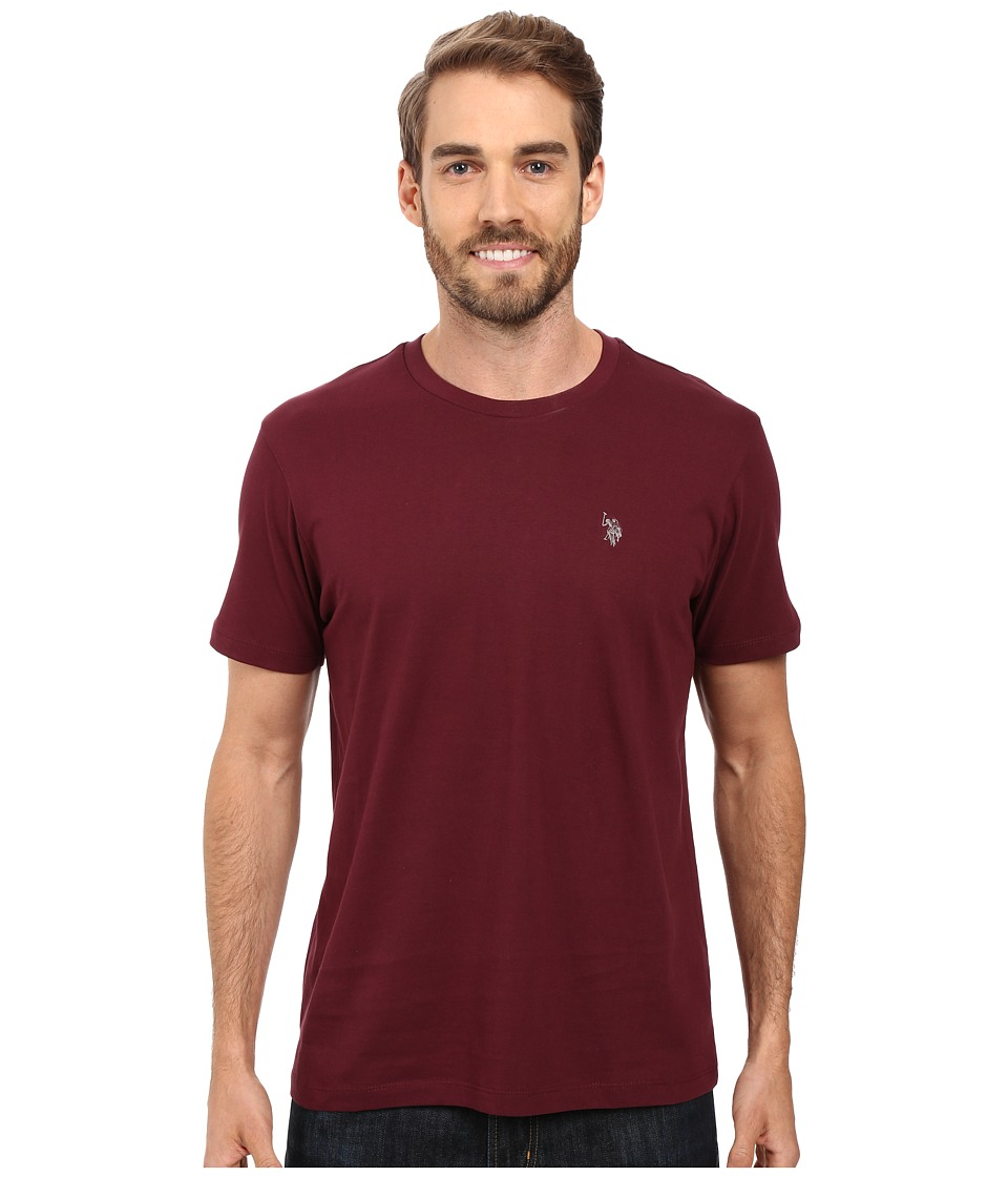 U.S. POLO ASSN. - Crew Neck Small Pony T-Shirt (East Burgundy) Men's Short Sleeve Pullover