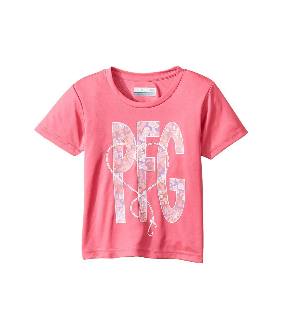 Columbia Kids - PFG Reel Adventure Tee (Little Kids/Big Kids) (Wild Geranium) Girl's T Shirt