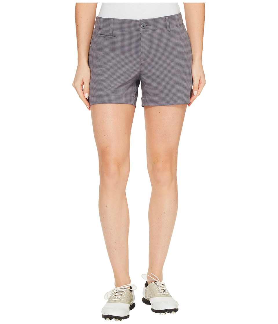 Under Armour Golf - Links Printed Shorty 4 (Steel/Mediterranean/Rhino Gray) Women's Shorts