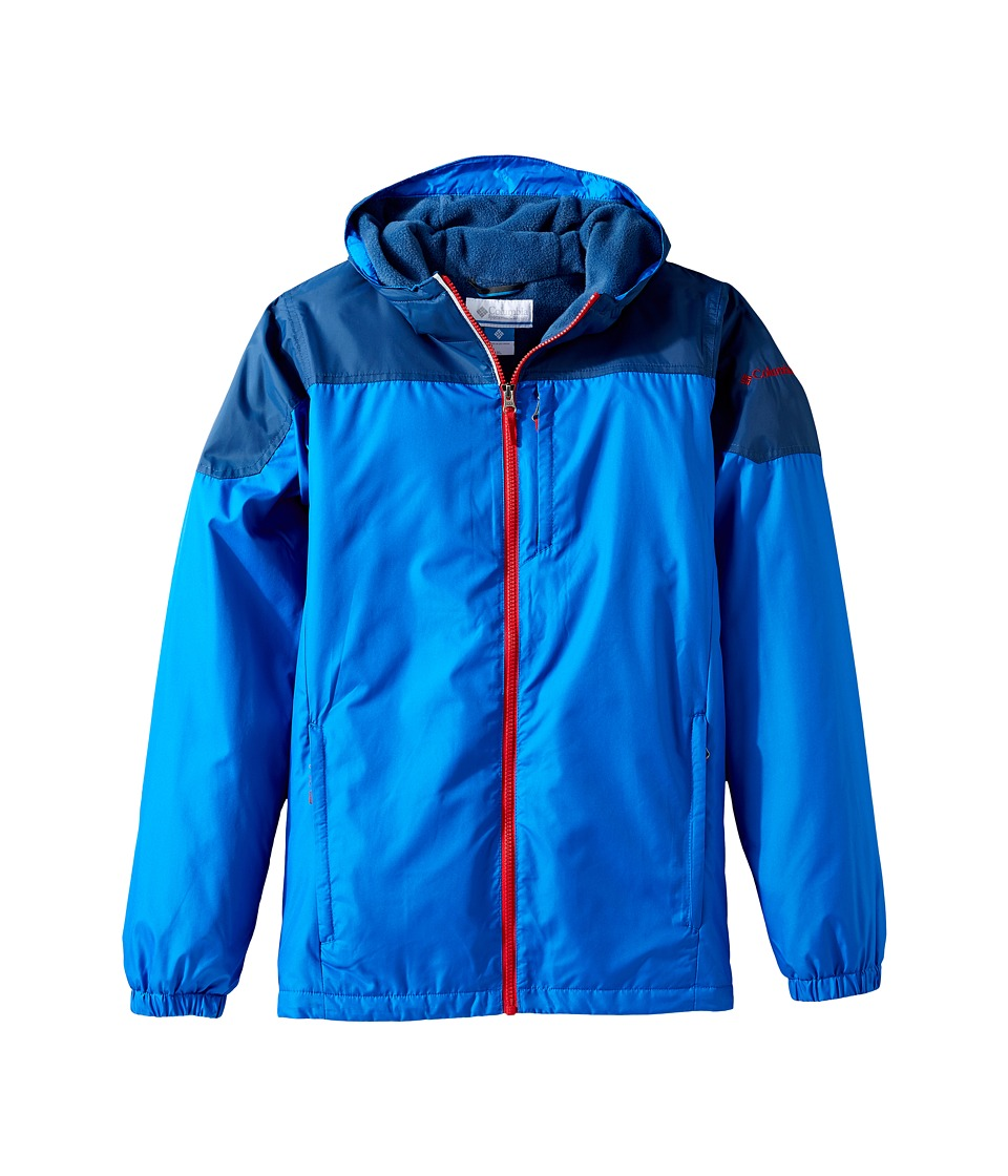 Columbia Kids - Ethan Pondtm Jacket (Toddler) (Super Blue/Carbon/Mountain Red) Boy's Coat