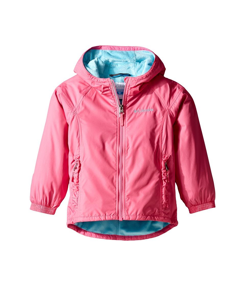 Columbia Kids - Ethan Pondtm Jacket (Toddler) (Wild Geranium/Clear Blue) Girl's Coat