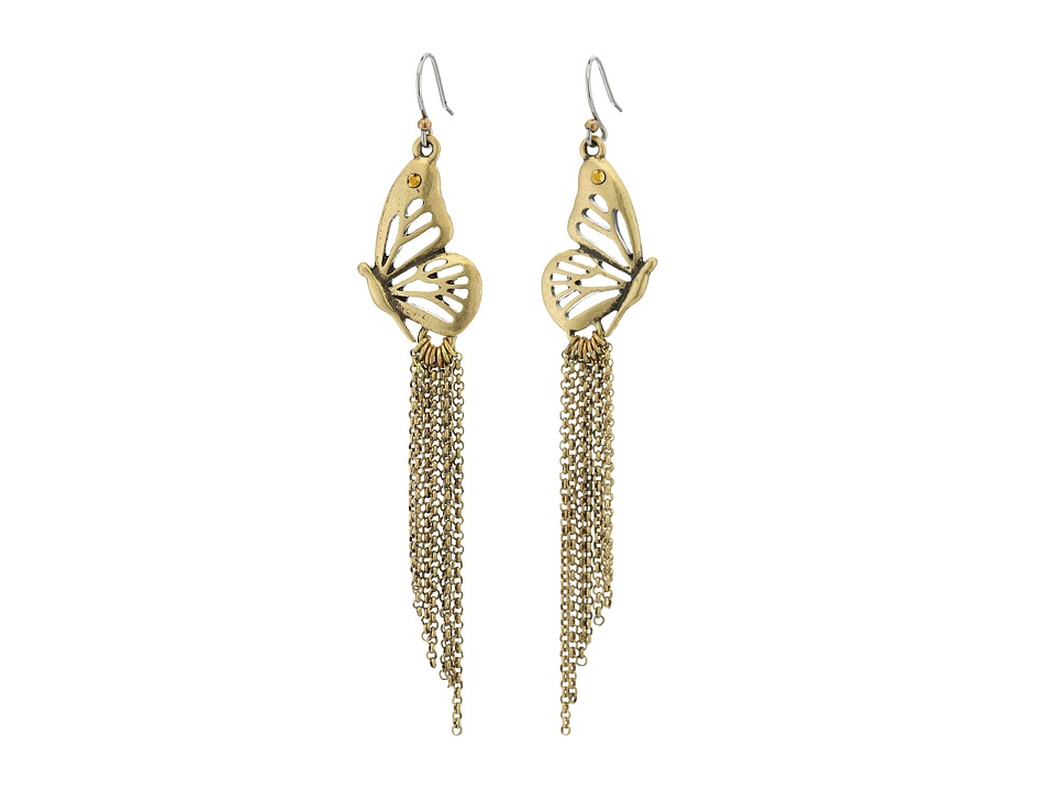 Lucky Brand - Butterfly Earrings (Gold) Earring