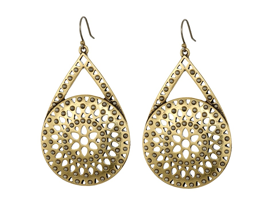 Lucky Brand - Two-Tone Major Drop Earrings (Two-Tone) Earring