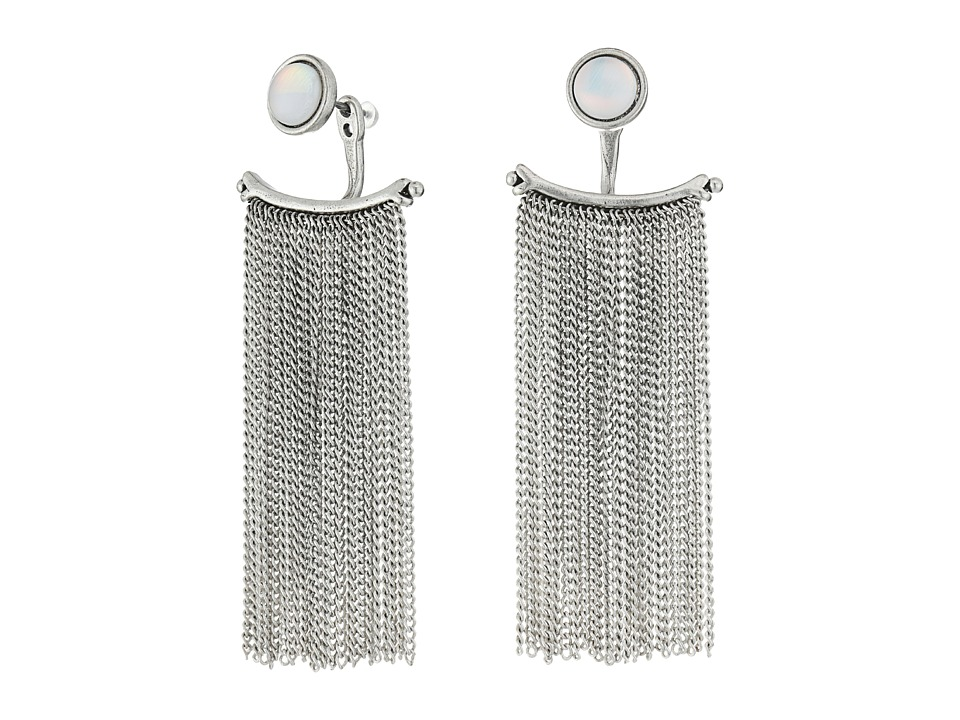 Lucky Brand - Fringe Ear Jacket Earrings (Silver) Earring