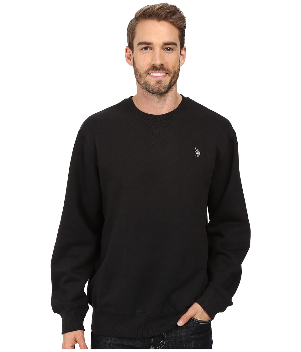 U.S. POLO ASSN. - Fleece Crew Neck Sweatshirt (Black) Men's Sweatshirt