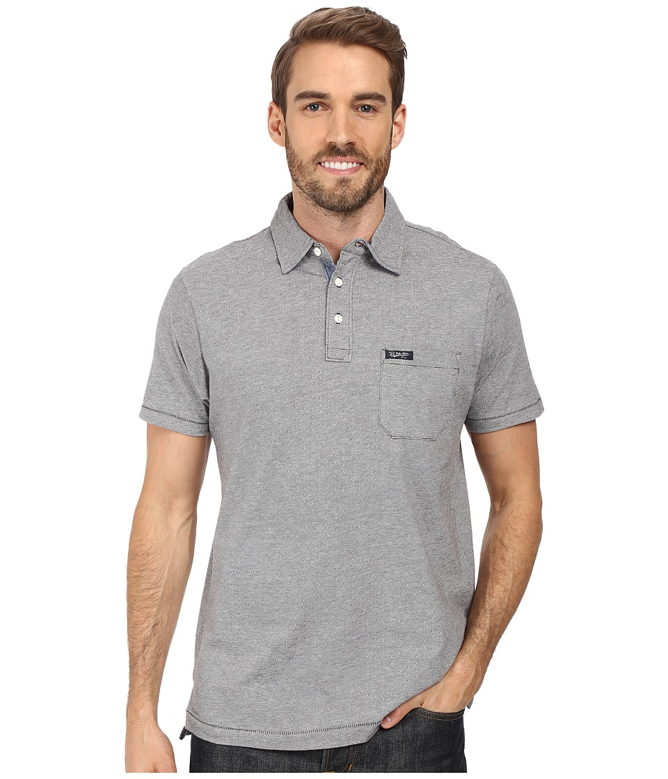 U.S. POLO ASSN. - Jacquard Cotton Polo Shirt (Campus Heather Grey) Men's Clothing