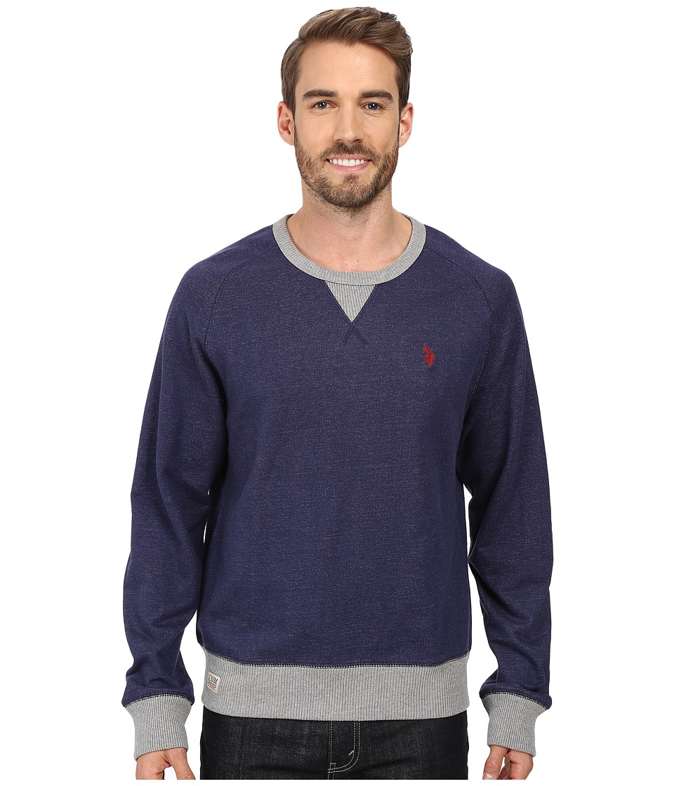 U.S. POLO ASSN. - French Terry Sweatshirt (Classic Navy) Men's Clothing