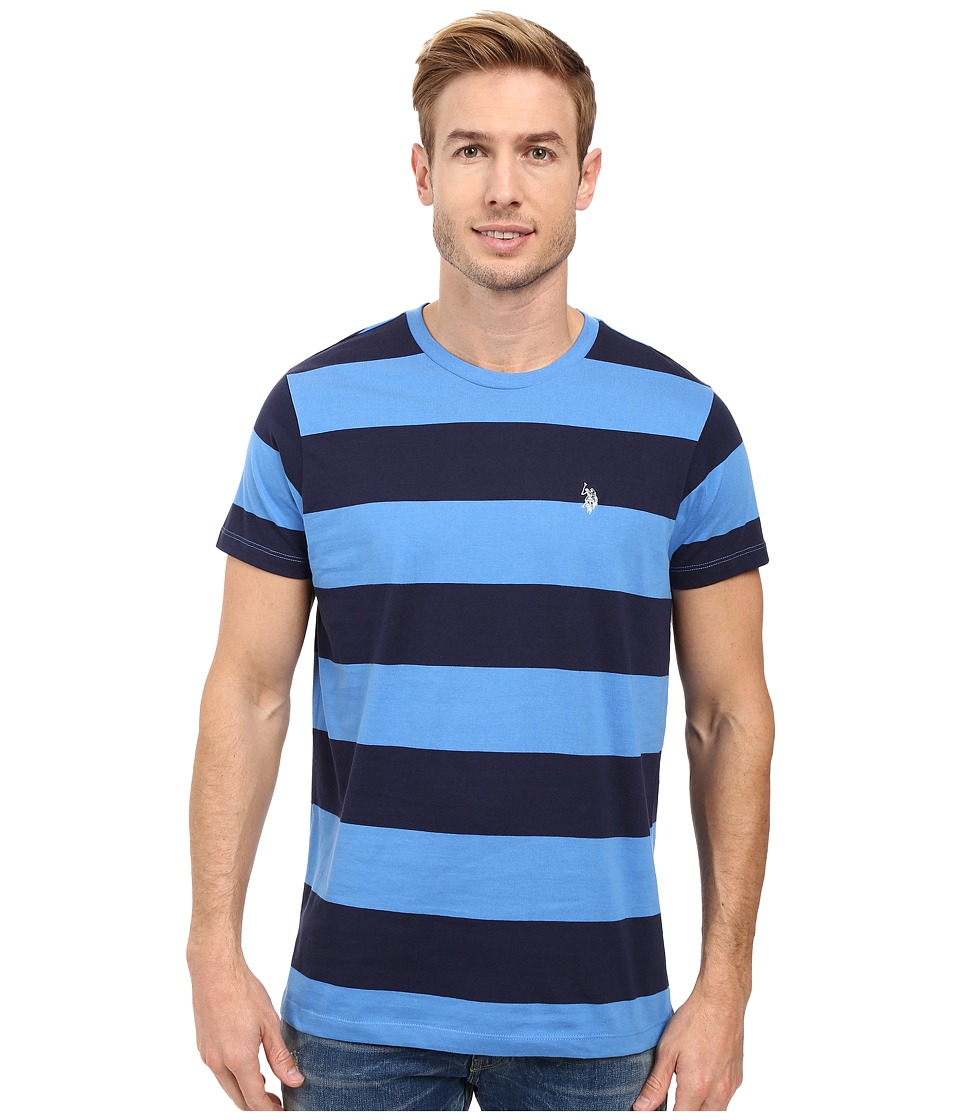 U.S. POLO ASSN. - Rugby Stripe Crew Neck T-Shirt (Regatta) Men's T Shirt