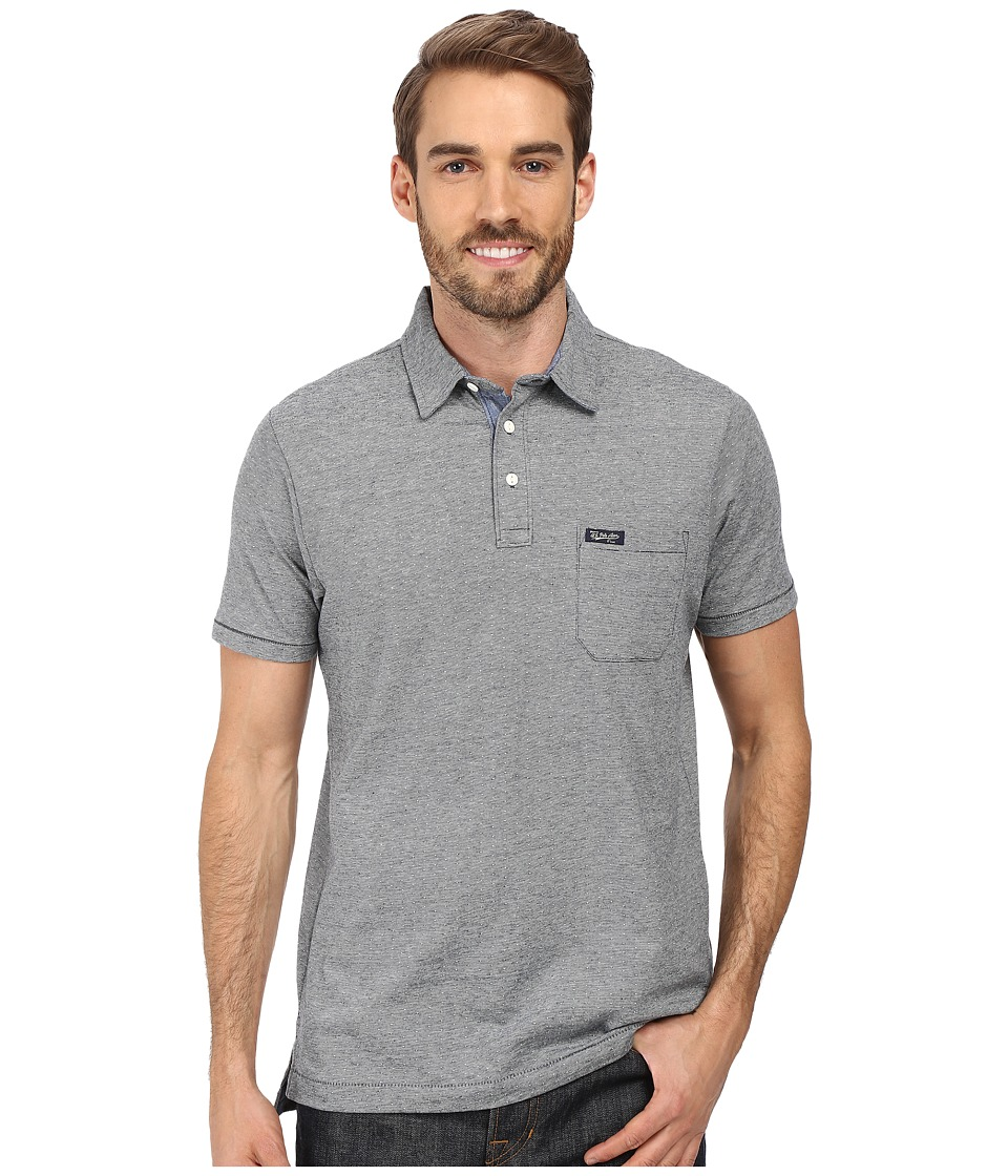 U.S. POLO ASSN. - Jacquard Cotton Polo Shirt (Peacoat Heather) Men's Clothing