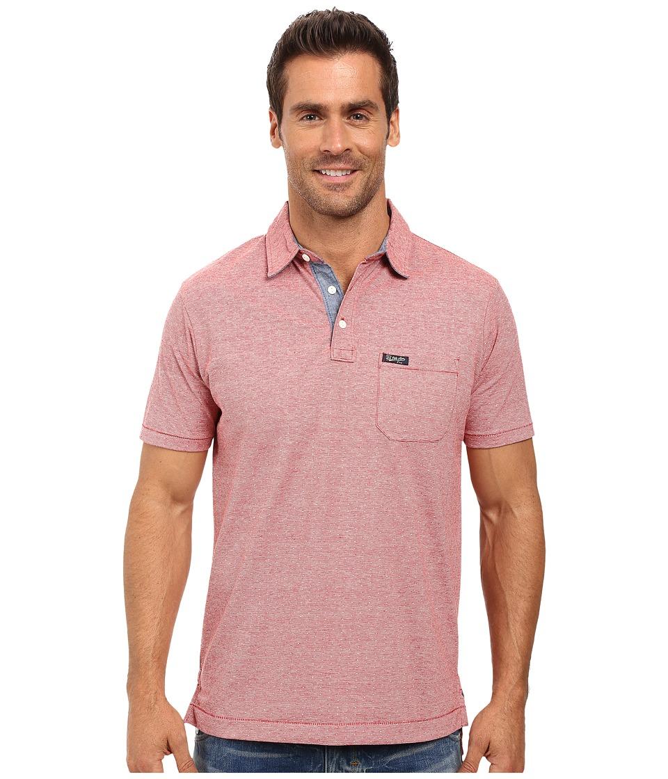 U.S. POLO ASSN. - Jacquard Cotton Polo Shirt (Red Heather) Men's Clothing