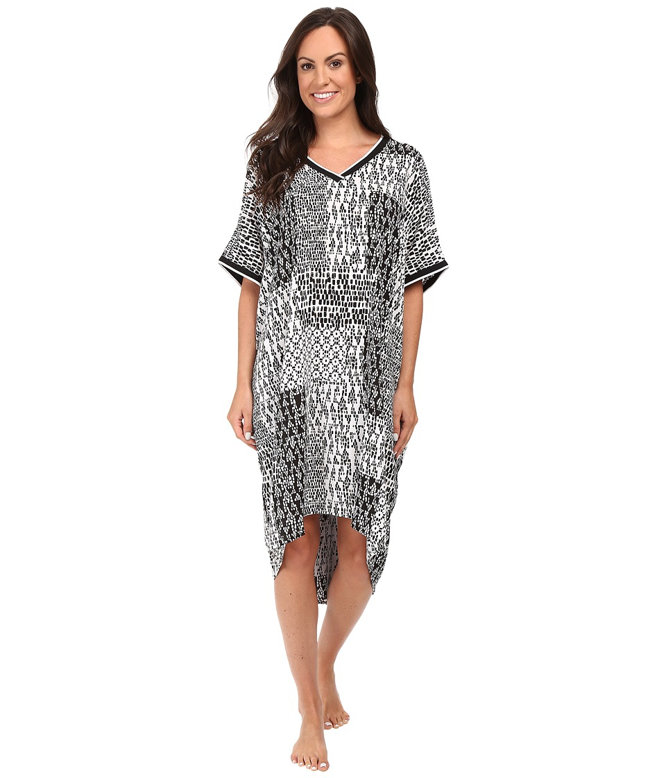 DKNY - Short Sleepshirt 3/4 (Black/Geo) Women's Pajama