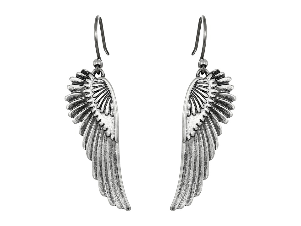 Lucky Brand - Feather Earrings (Silver) Earring