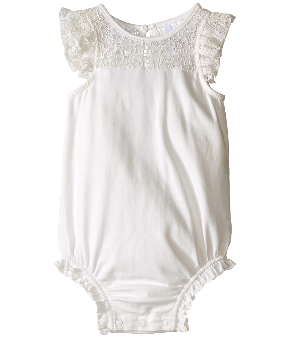 Kardashian Kids - Bubble Lace Romper (Infant) (Ivory) Girl's Jumpsuit & Rompers One Piece