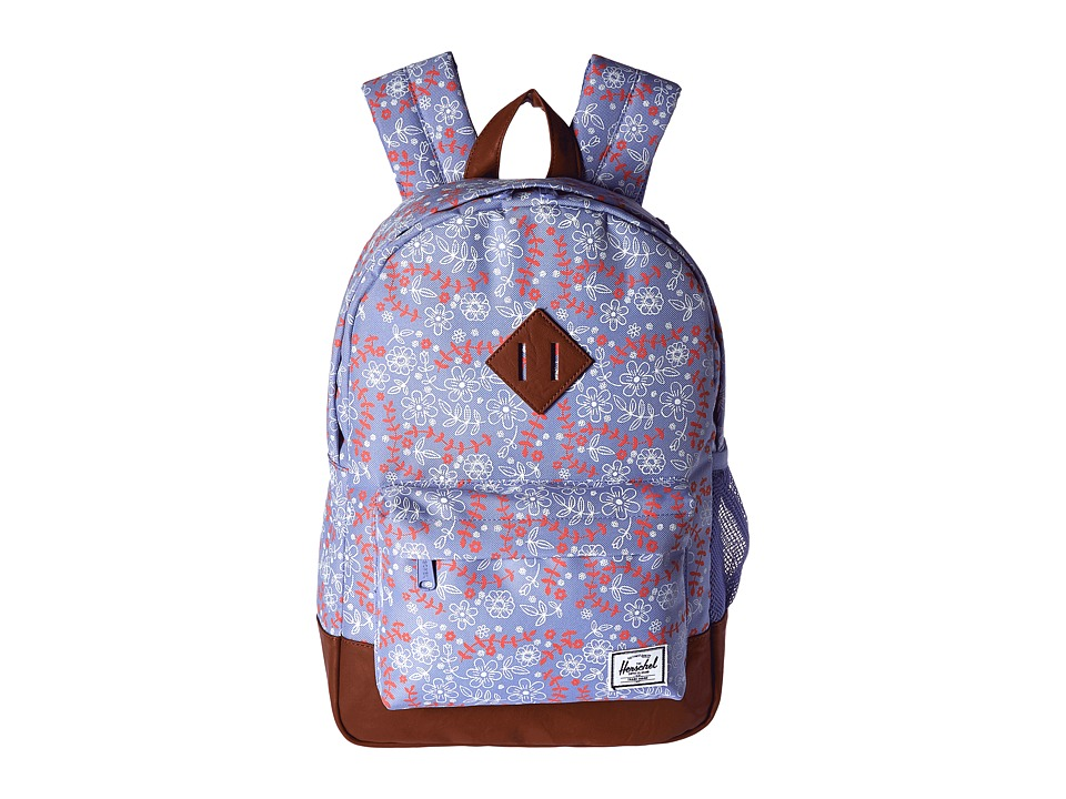 Herschel Supply Co. - Heritage Youth (Big Kids) (Meadow/Tan Synthetic Leather) Backpack Bags