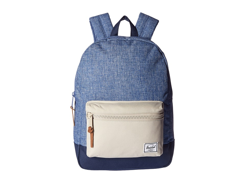 Herschel Supply Co. - Settlement Youth (Limoges Crosshatch/Pelican/Navy) Backpack Bags