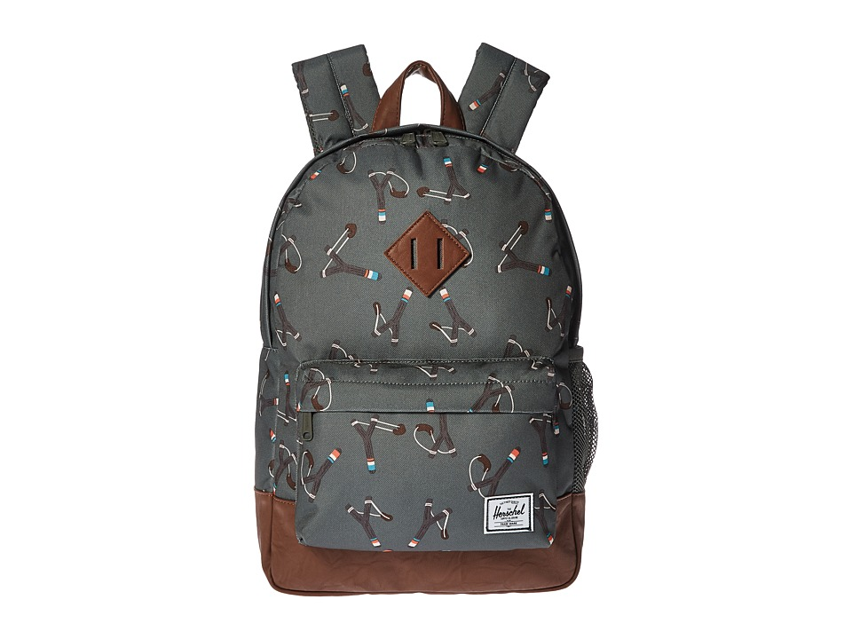 Herschel Supply Co. - Heritage Youth (Big Kids) (Sticks/Stones/Tan Synthetic Leather) Backpack Bags