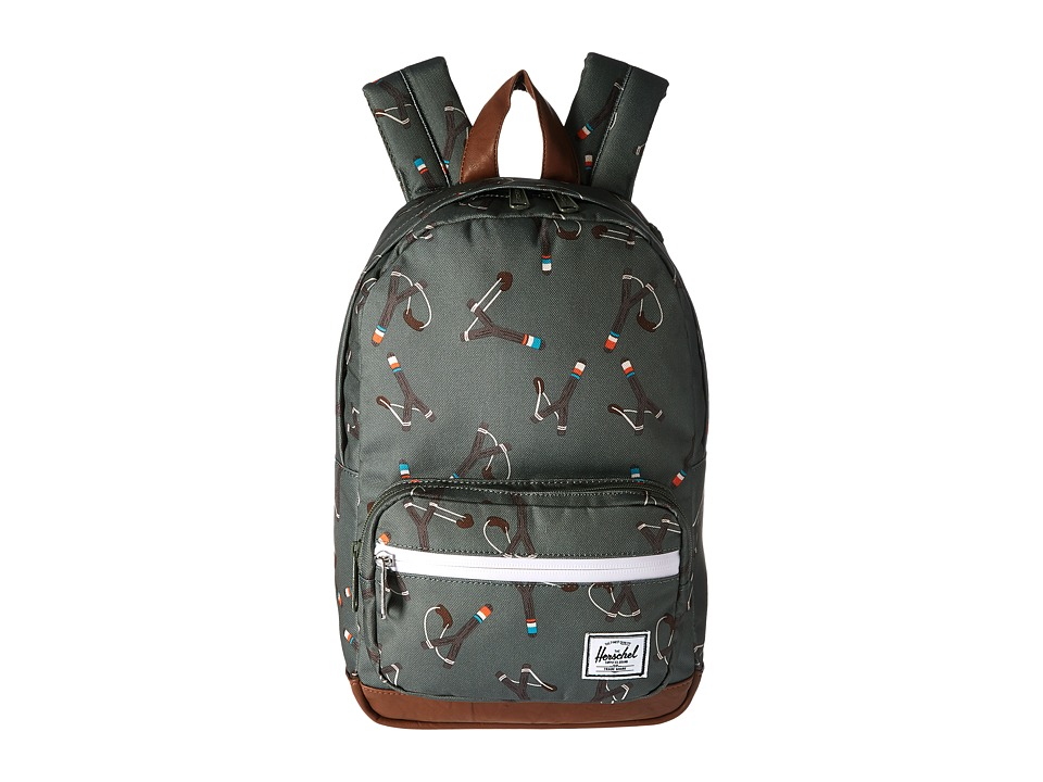Herschel Supply Co. Pop Quiz Kids (Sticks/Stones/Tan Synthetic Leather) Backpack Bags