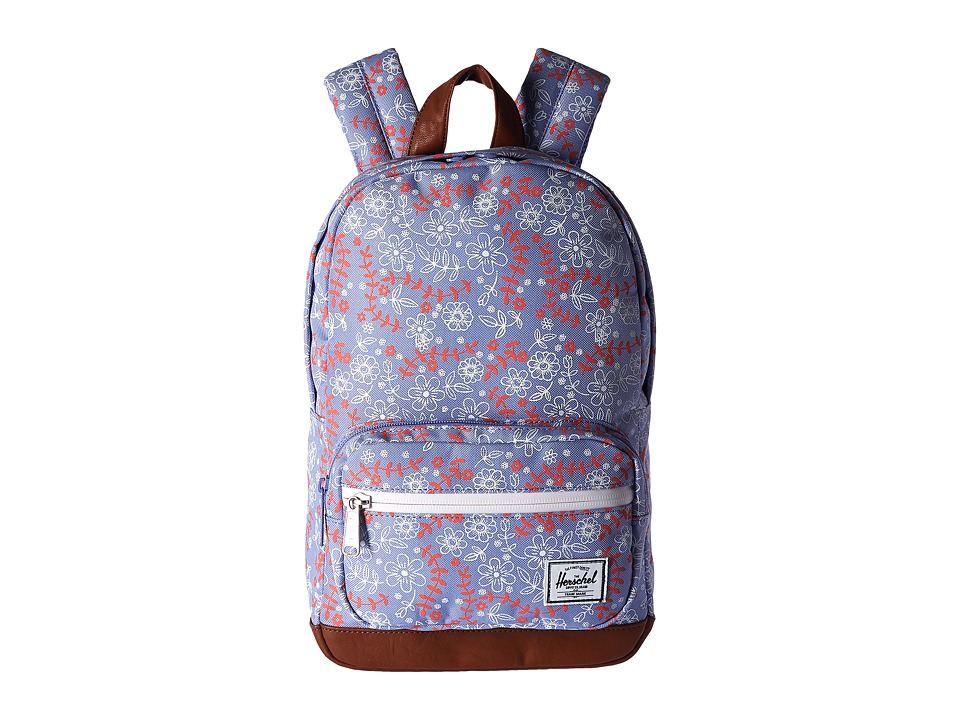 Herschel Supply Co. - Pop Quiz Kids (Meadow/Tan Synthetic Leather) Backpack Bags