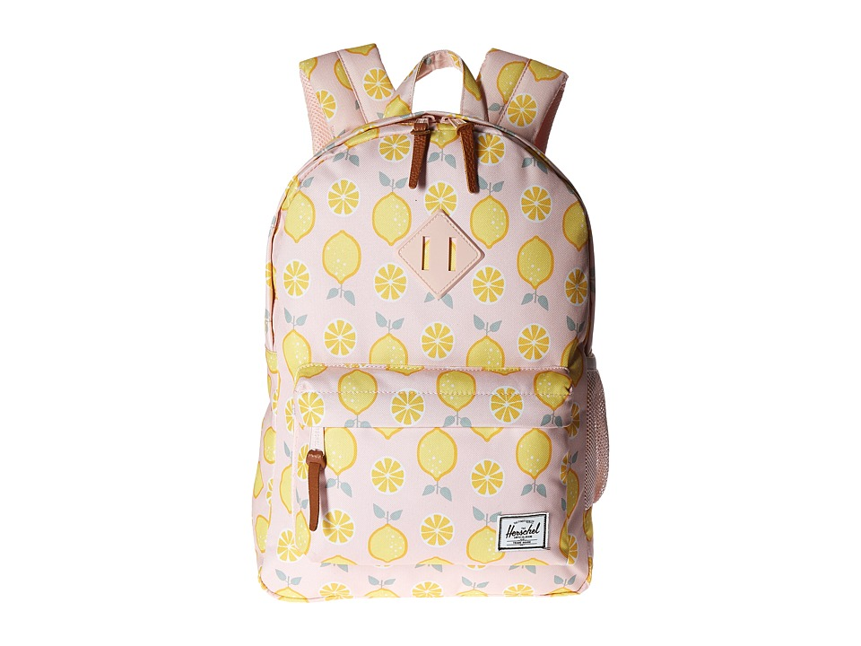 Herschel Supply Co. - Heritage Youth (Big Kids) (Lemon Drop/Cloud Pink Rubber) Backpack Bags