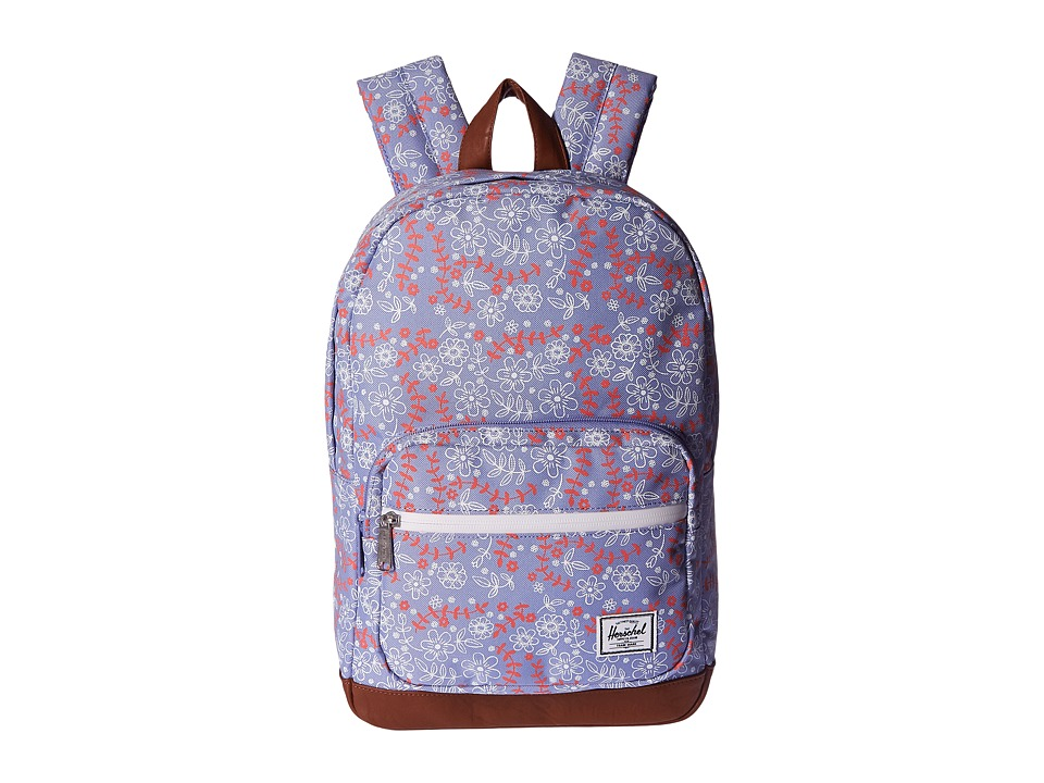 Herschel Supply Co. - Pop Quiz Youth (Meadow/Tan Synthetic Leather) Backpack Bags