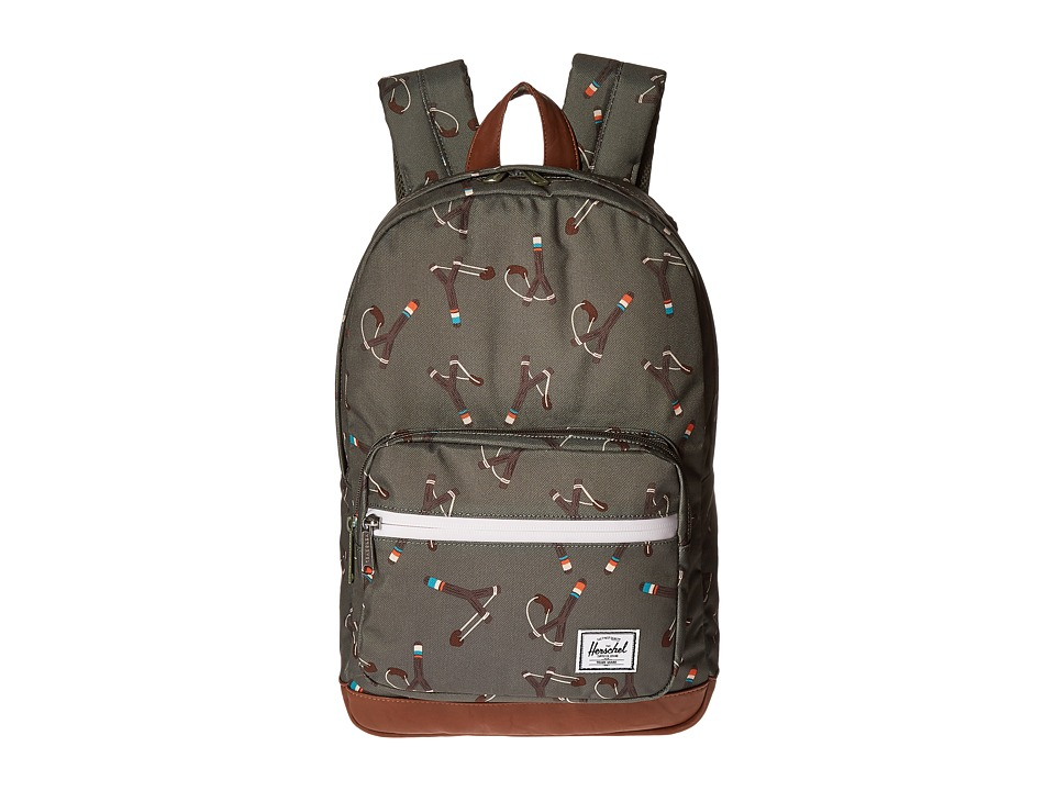 Herschel Supply Co. - Pop Quiz Youth (Sticks/Stones/Tan Synthetic Leather) Backpack Bags