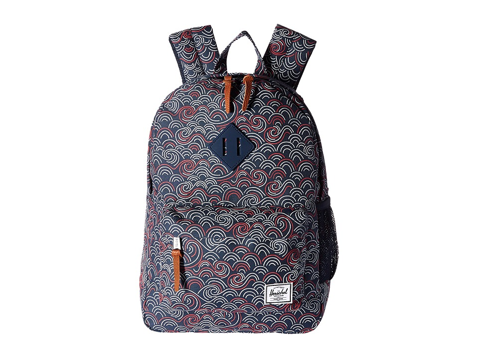 Herschel Supply Co. - Heritage Youth (Big Kids) (Swift/Navy Rubber) Backpack Bags