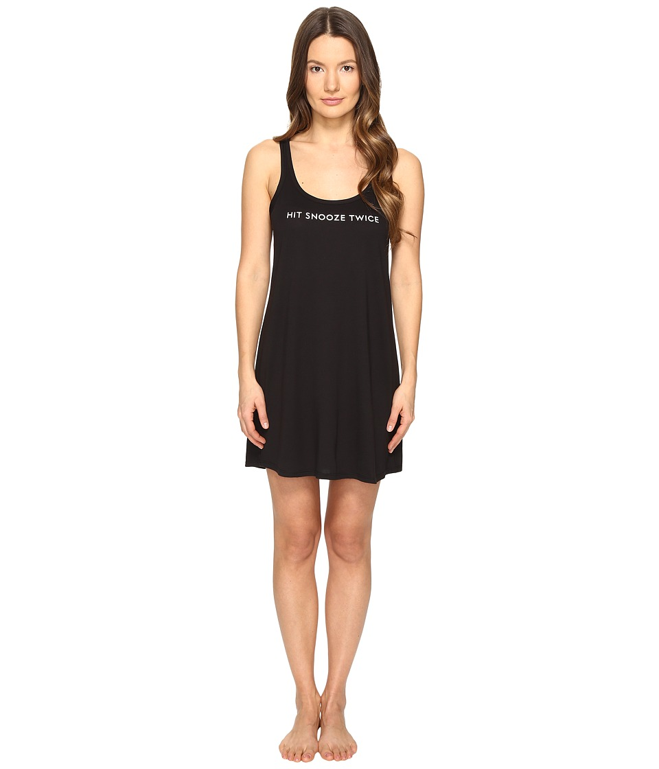 Kate Spade New York - Hit Snooze Twice Chemise (Black) Women's Pajama
