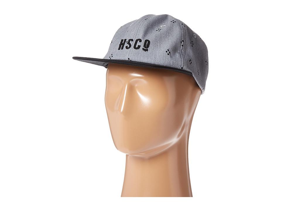 Herschel Supply Co. - Mosby (Heathered Grey Japanese Polka Dot/Black) Caps