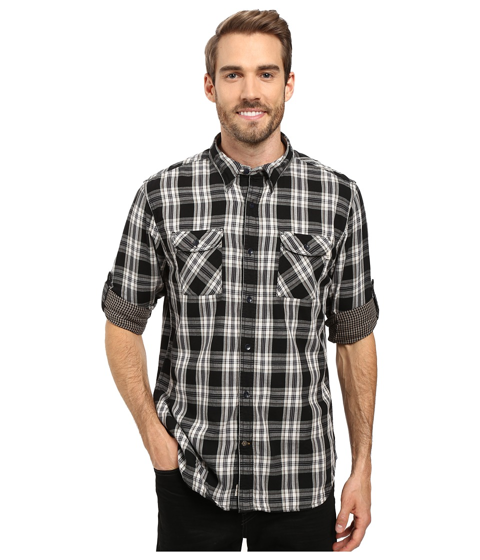 Timberland - Double Layer Plaid Shirt (Forged Iron) Men's Clothing