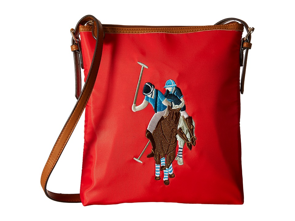 U.S. POLO ASSN. - Chester Shoulder Bag (Rouge Red) Shoulder Handbags