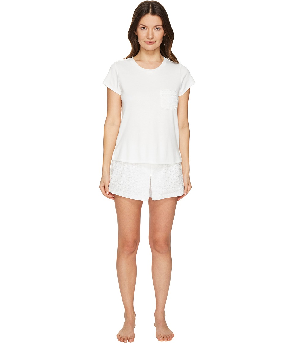 Kate Spade New York - Skort PJ Set (Fresh White) Women's Pajama Sets