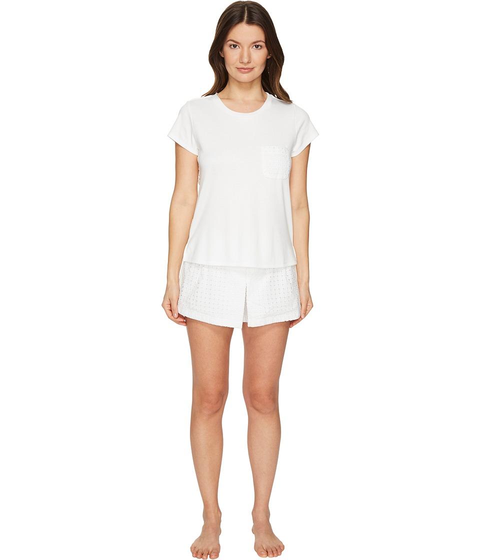 Kate Spade New York - Skort PJ Set (Fresh White) Women's Pajama Sets