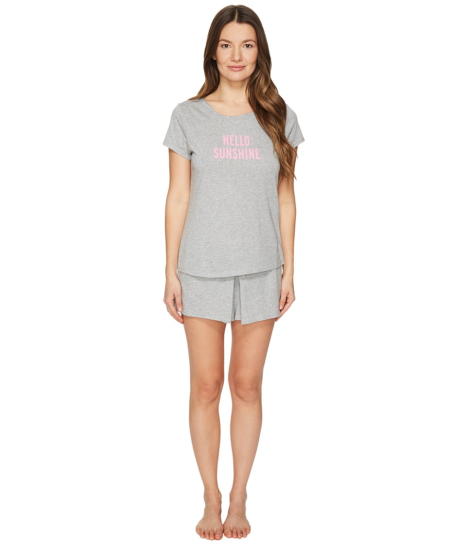 Kate Spade New York - Hello Sunshine Skort PJ Set (Grey Heather) Women's Pajama Sets