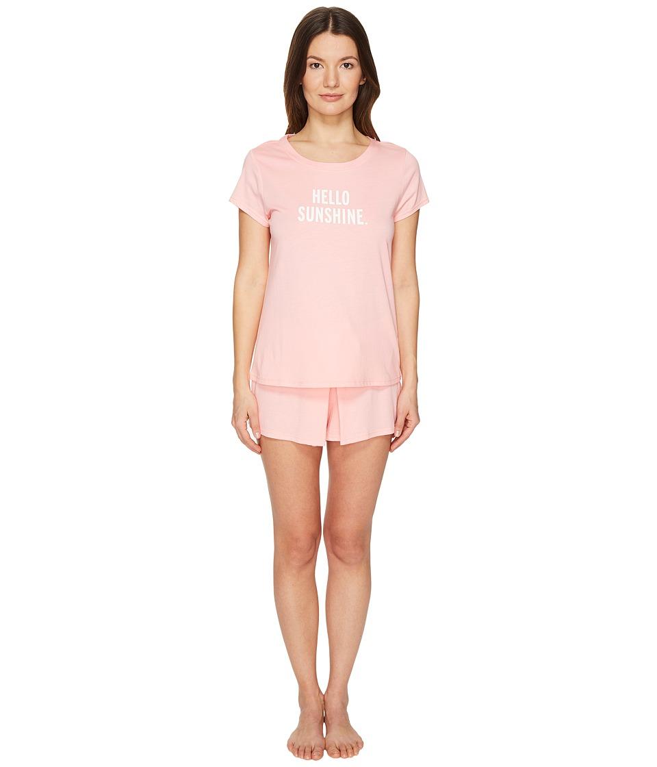 Kate Spade New York - Hello Sunshine Skort PJ Set (Sweet Peach) Women's Pajama Sets