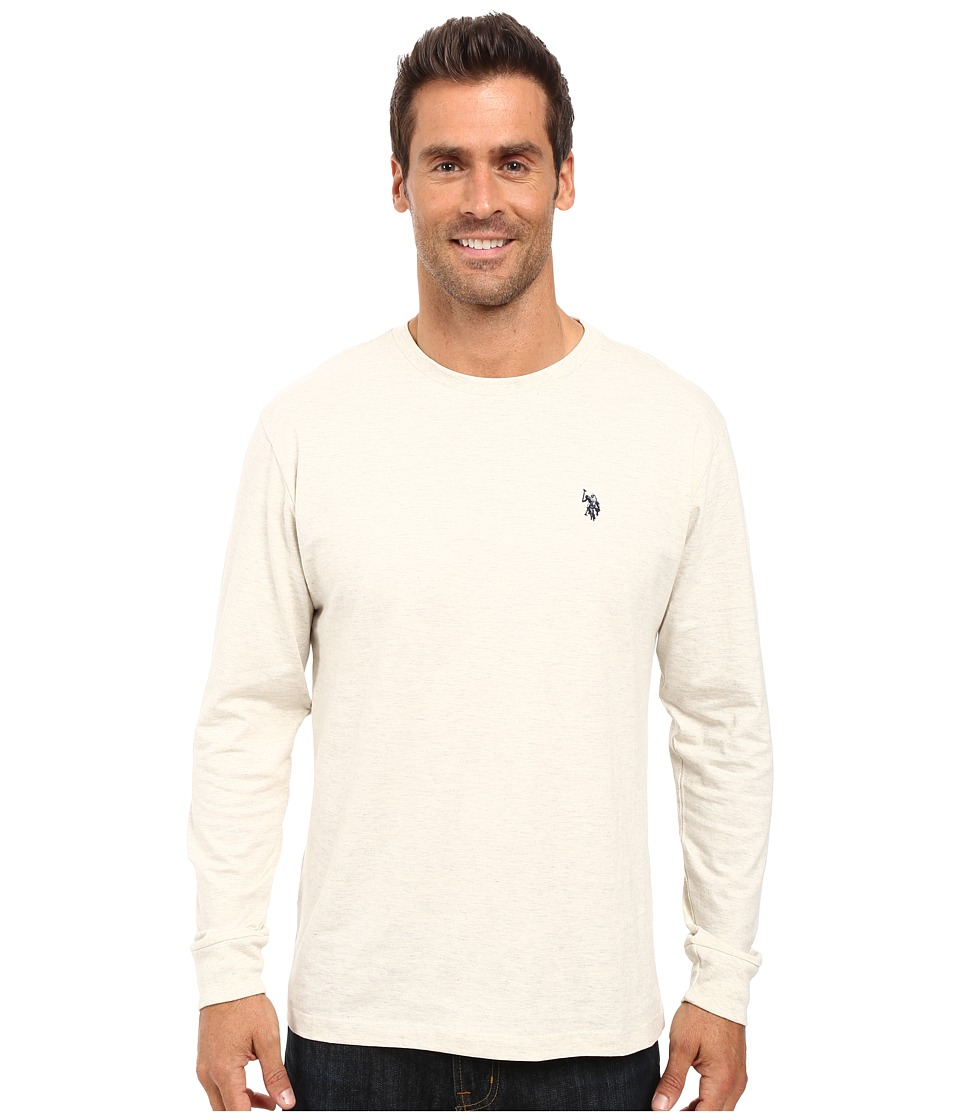 U.S. POLO ASSN. - Long Sleeve Crew Neck T-Shirt (Oatmeal Heather) Men's T Shirt