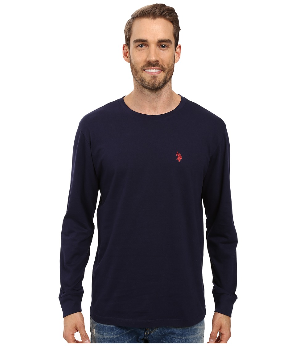 U.S. POLO ASSN. - Long Sleeve Crew Neck T-Shirt (Classic Navy) Men's T Shirt