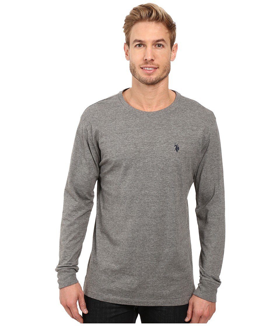 U.S. POLO ASSN. - Long Sleeve Crew Neck T-Shirt (Campus Heather Grey) Men's T Shirt