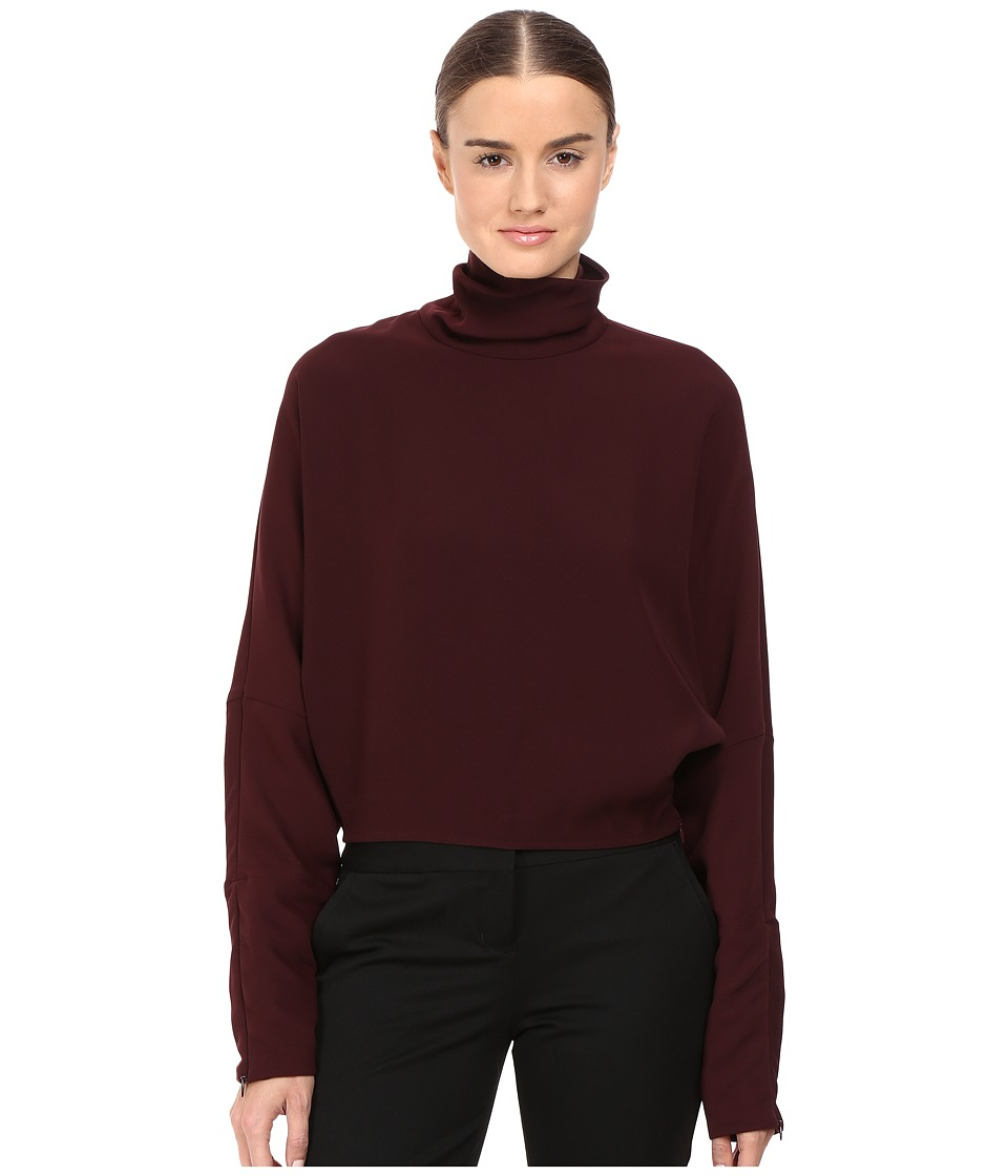 McQ - Turtleneck Top (Port) Women's Clothing